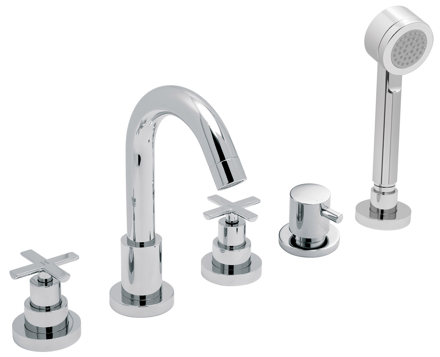 Vado Tonic 5 Hole Deck Mounted Bath Shower Mixer Tap