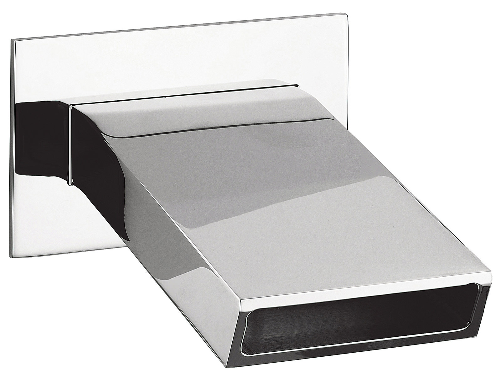 crosswater slip wall mounted bath filler spout sp0370wc