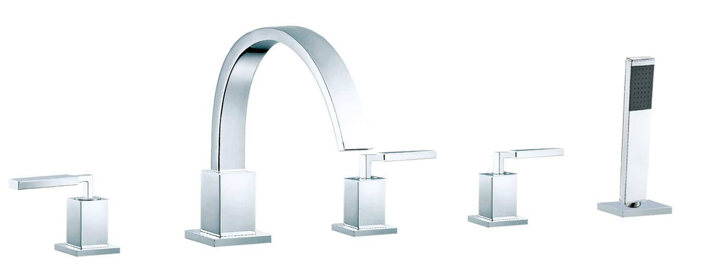 Vado Instinct Deck Mounted 5 Hole Bath Shower Mixer Tap