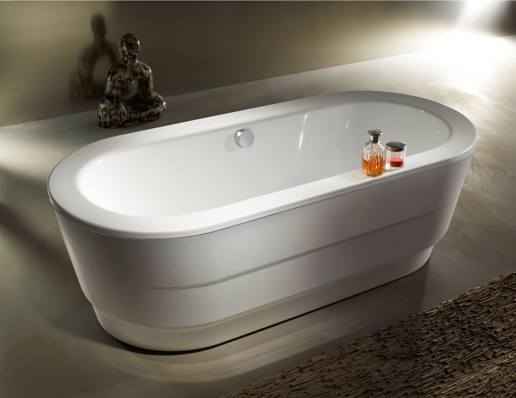 Kaldewei Classic Duo Freestanding Bath With Panel 1800 X 800mm