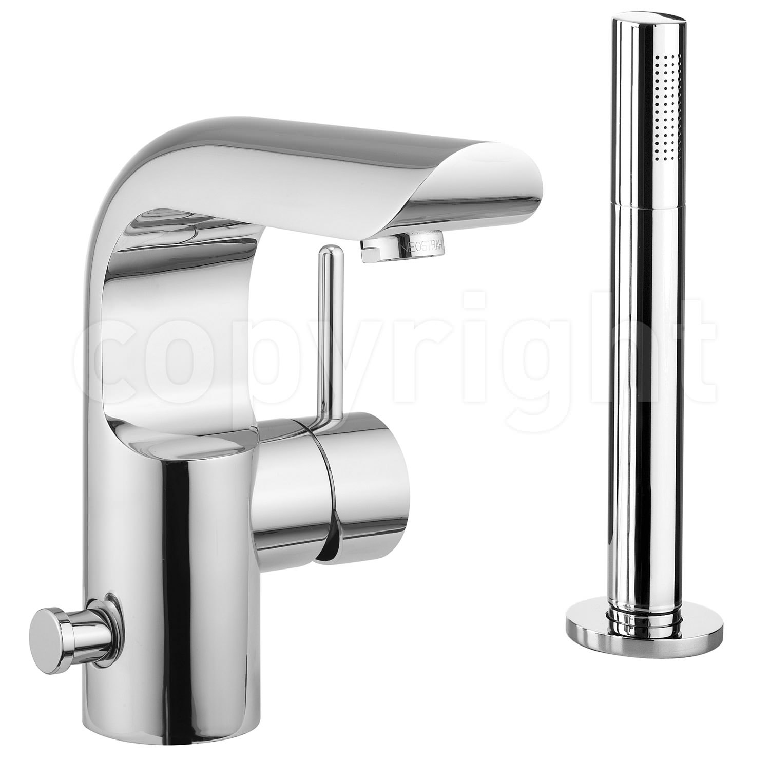 Crosswater elite monobloc bath shower mixer tap with kit for Bathroom taps