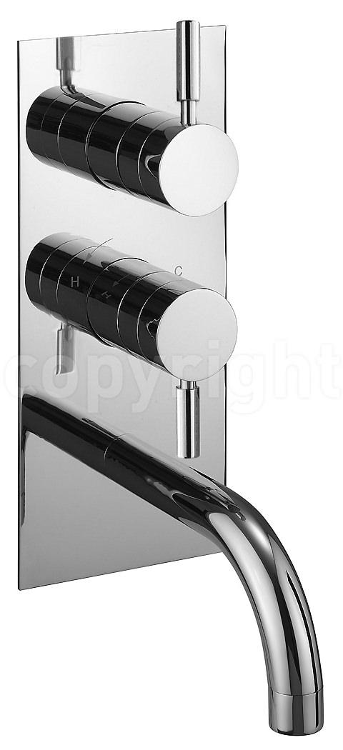 Crosswater Design Thermostatic Shower Valve With Bath Spout | DE1600RC