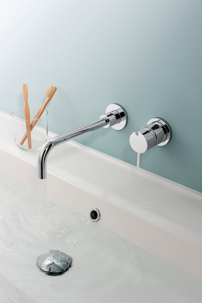 Crosswater Kai Lever Wall Mounted 2 Hole Basin Mixer Tap