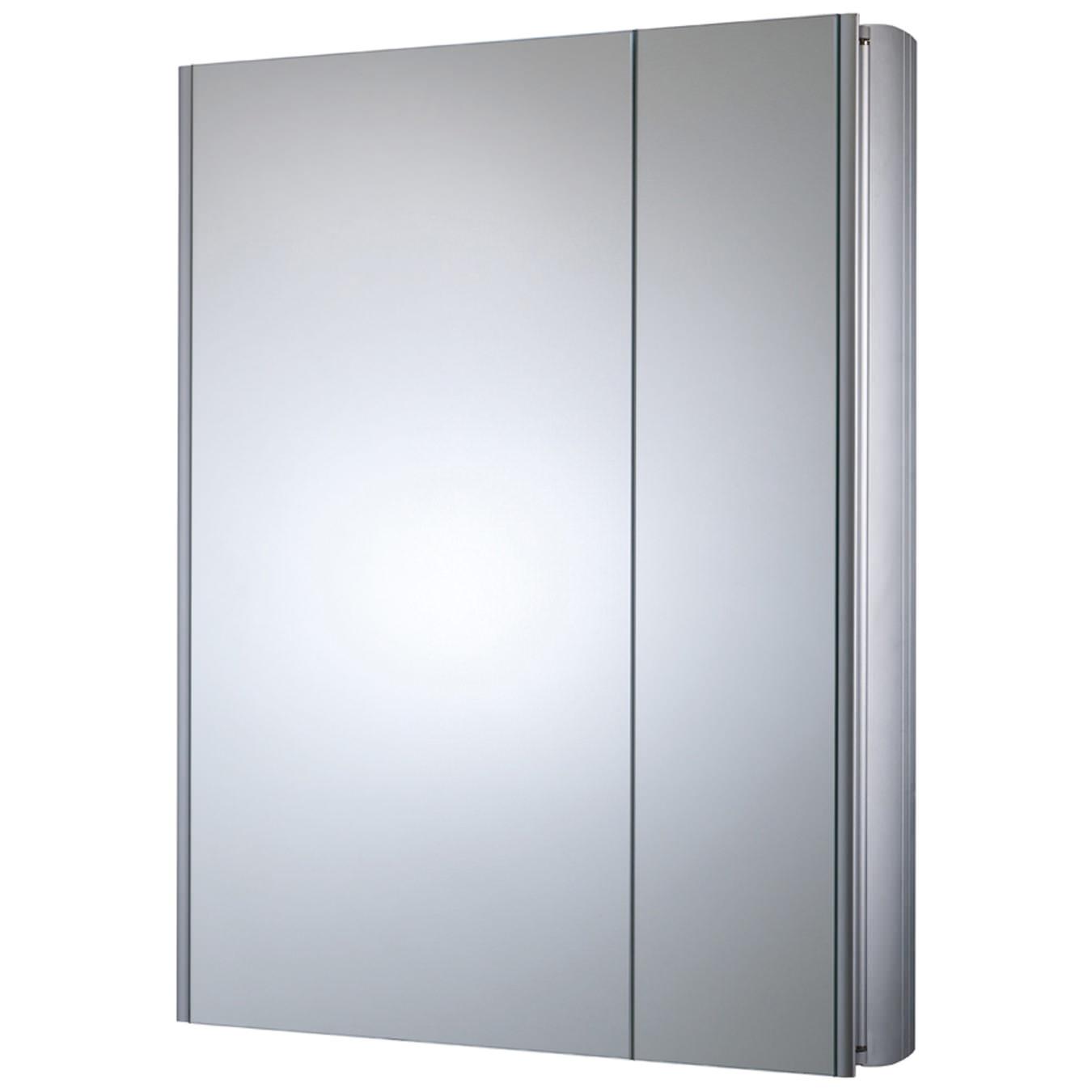Refine Slimline Double Mirror Glass Door Bathroom Cabinet 615mm ...