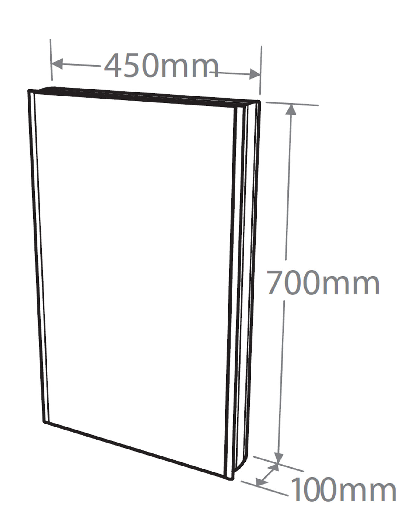 Roper Rhodes Ascension Limit Slimline Bathroom Cabinet 450mm ... for Slimline Bathroom Cabinets With Mirrors  186ref