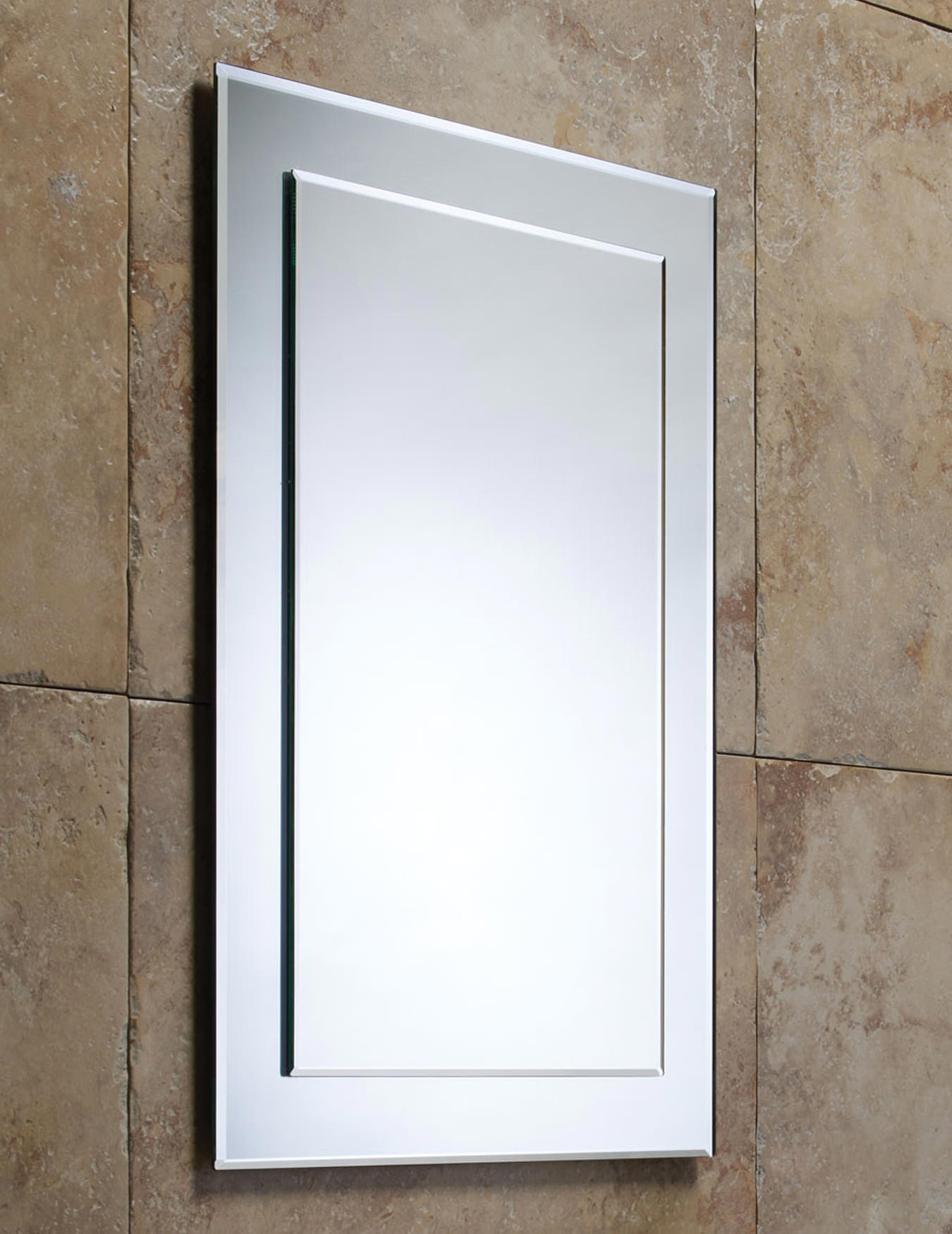 Roper rhodes elle bevelled mirror on mirror mps403 for Beveled mirror