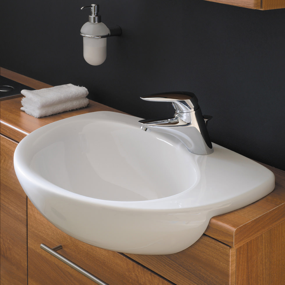 ideal standard create edge 560mm semi countertop basin. Black Bedroom Furniture Sets. Home Design Ideas