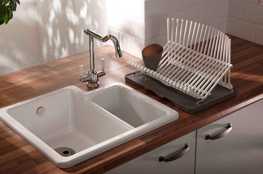 Abode Matrix CR25 1.5 Bowl Ceramic Kitchen Sink | AW1010