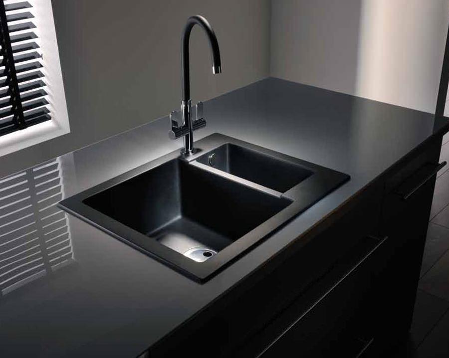 abode zero 1 5 bowl reversible kitchen sink aw3005. Black Bedroom Furniture Sets. Home Design Ideas