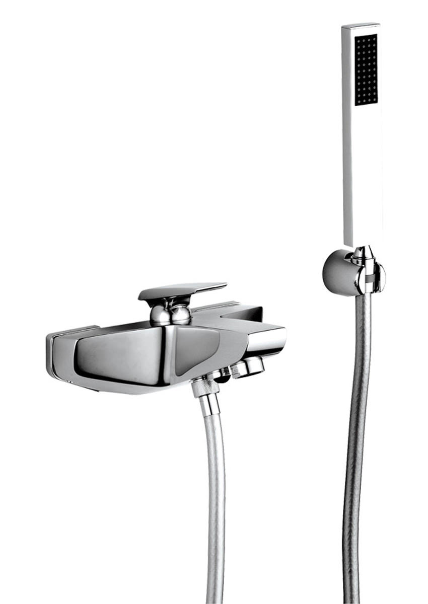 Abode Extase Wall Mounted Bath Shower Mixer Tap With Kit