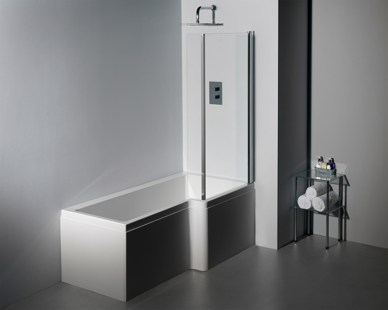 carron quantum square 5mm acrylic shower bath 1500 x 850mm rh q4 additional image of carron quantum square 5mm acrylic shower bath 1500 x 850mm right hand