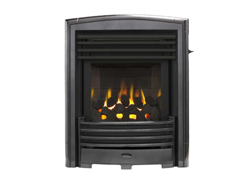 Valor Petrus Slimline Homeflame Inset Gas Fire Black