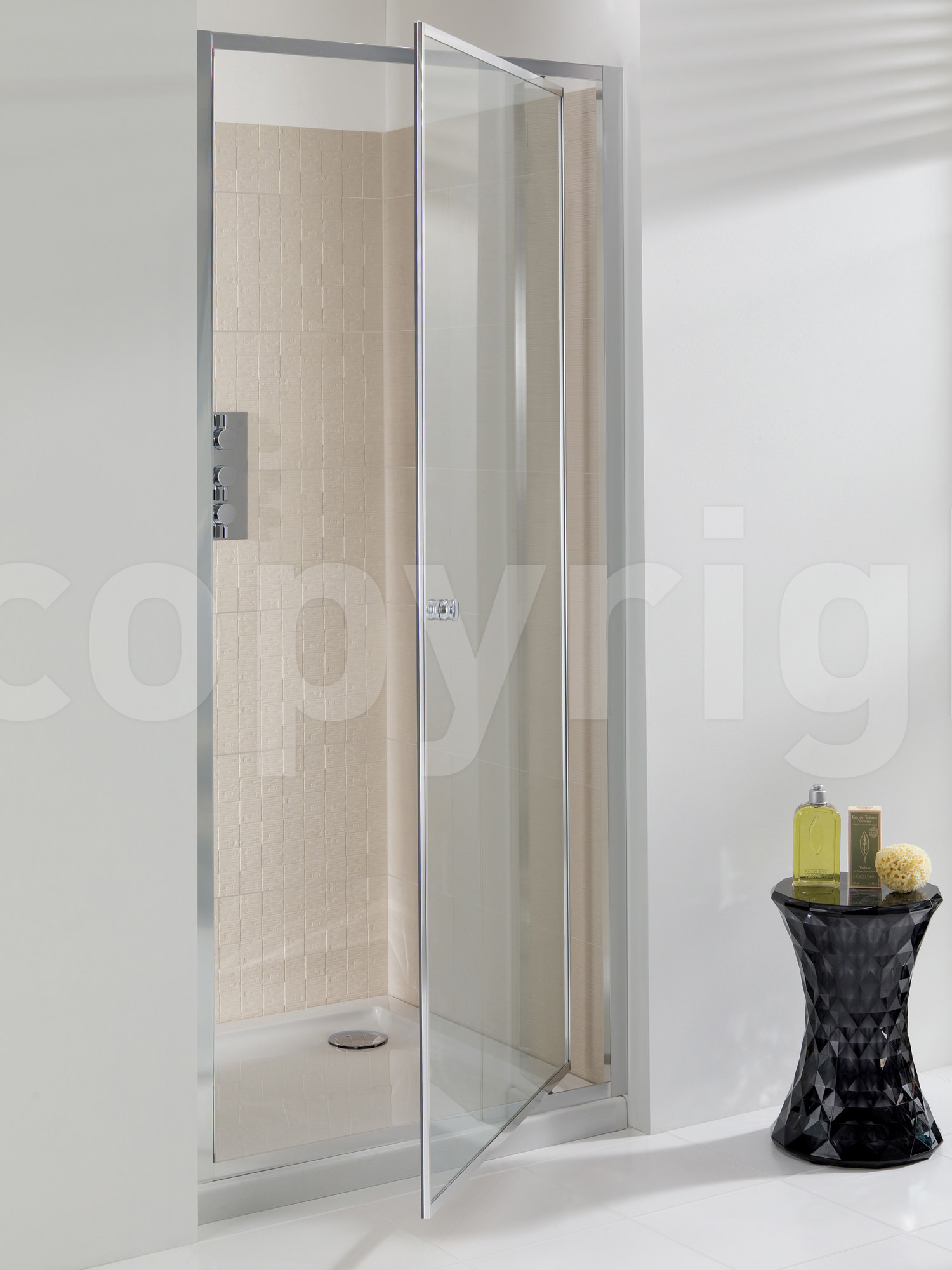 Pivot shower door 1000mm