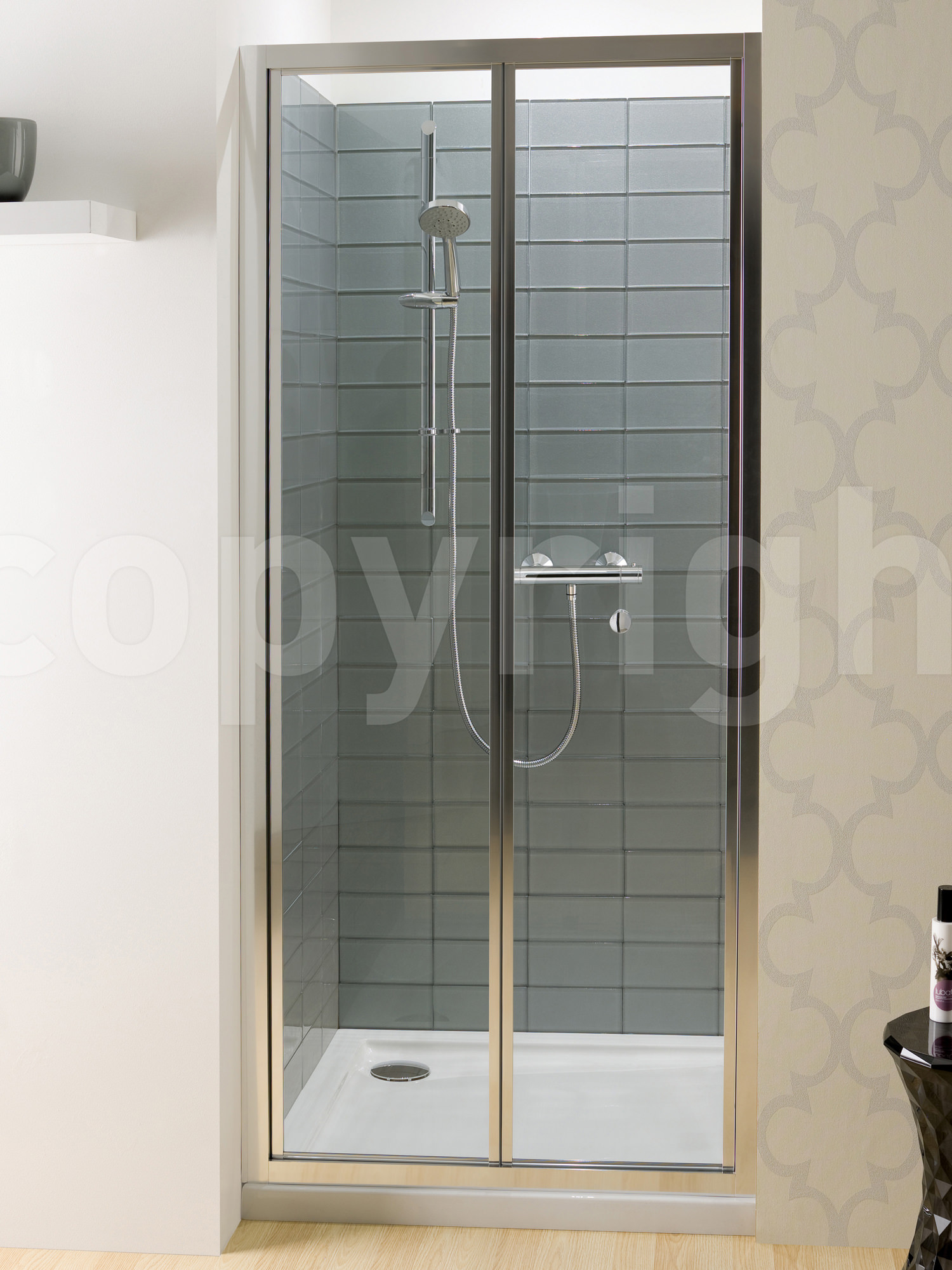 Simpsons Edge Bi Fold Shower Door 900mm EBFSC0900