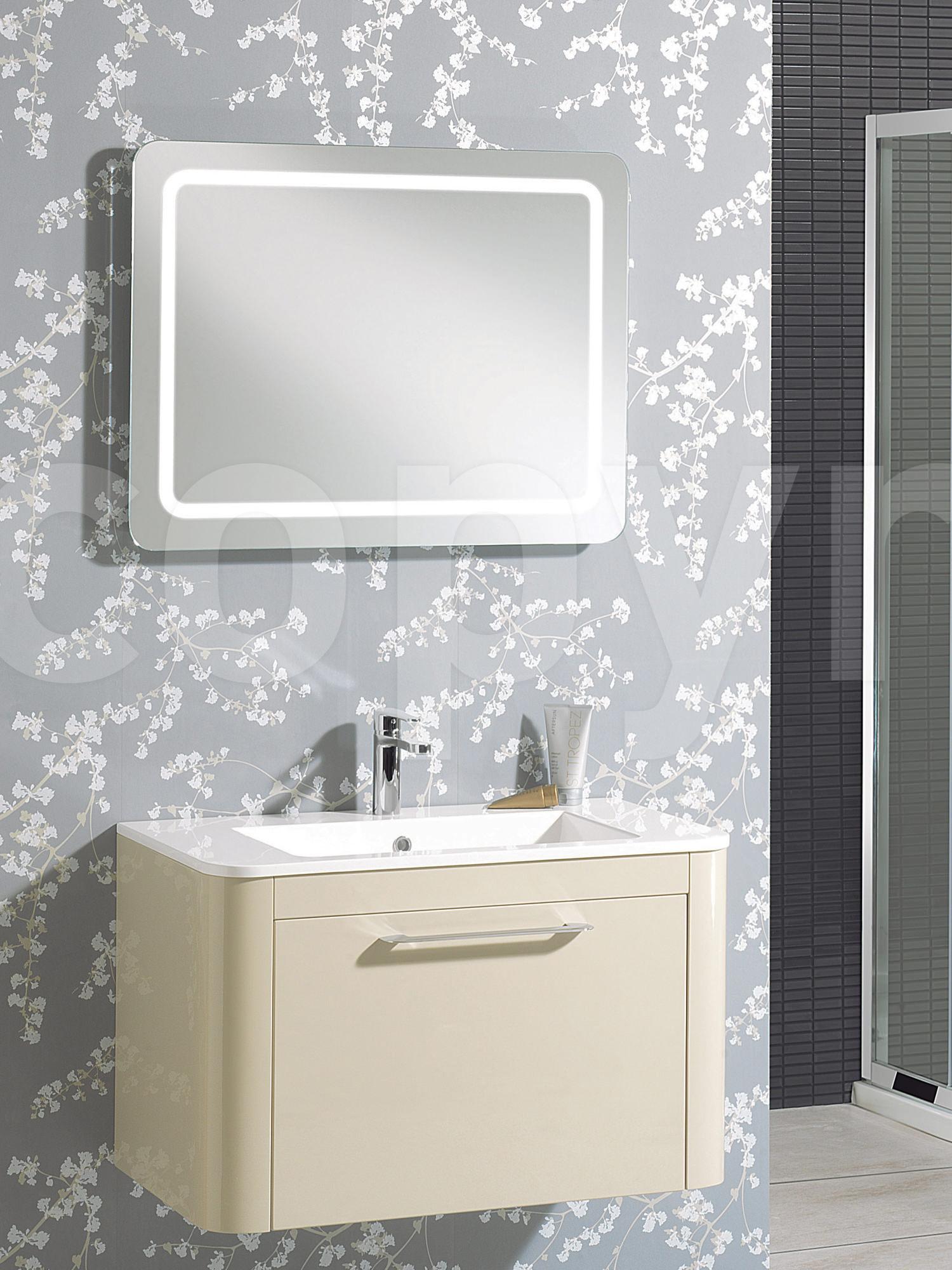 Flat Pack Kitchens >> Bauhaus Celeste Back Lit Mirror 600 X 800MM With Deimister Pad - MF8060B+