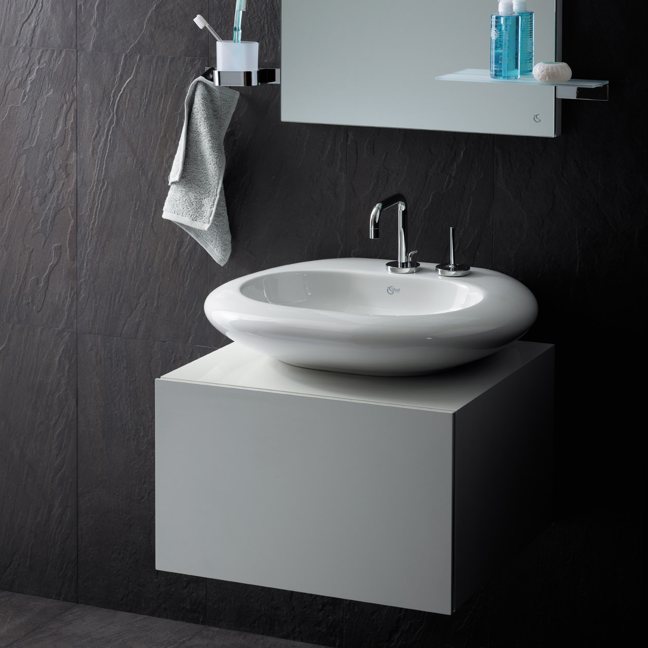 ideal standard simplyu 2 hole basin mixer with 2 round backplates. Black Bedroom Furniture Sets. Home Design Ideas
