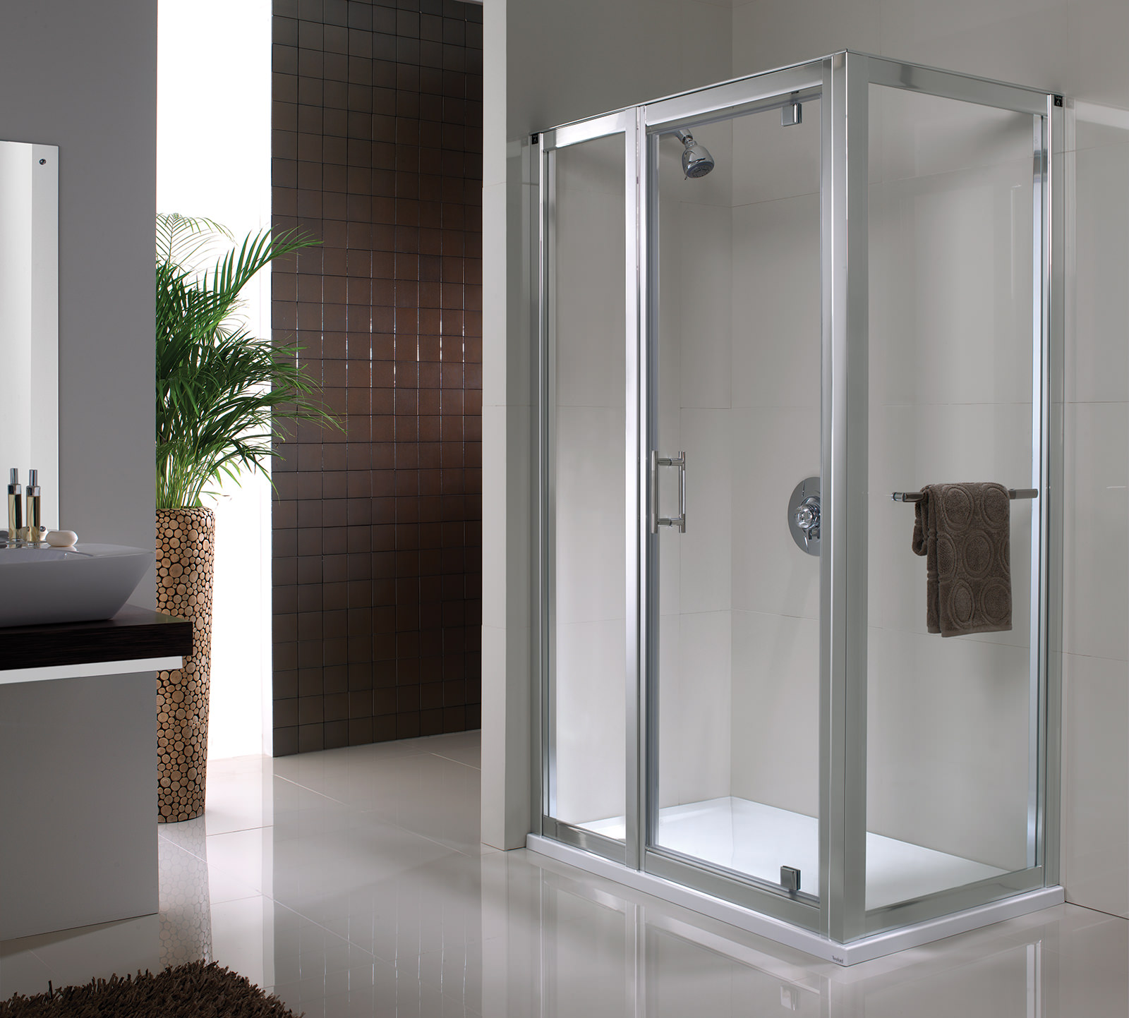 Twyford Geo6 180 Pivot Shower Enclosure Door 760mm G63600cp