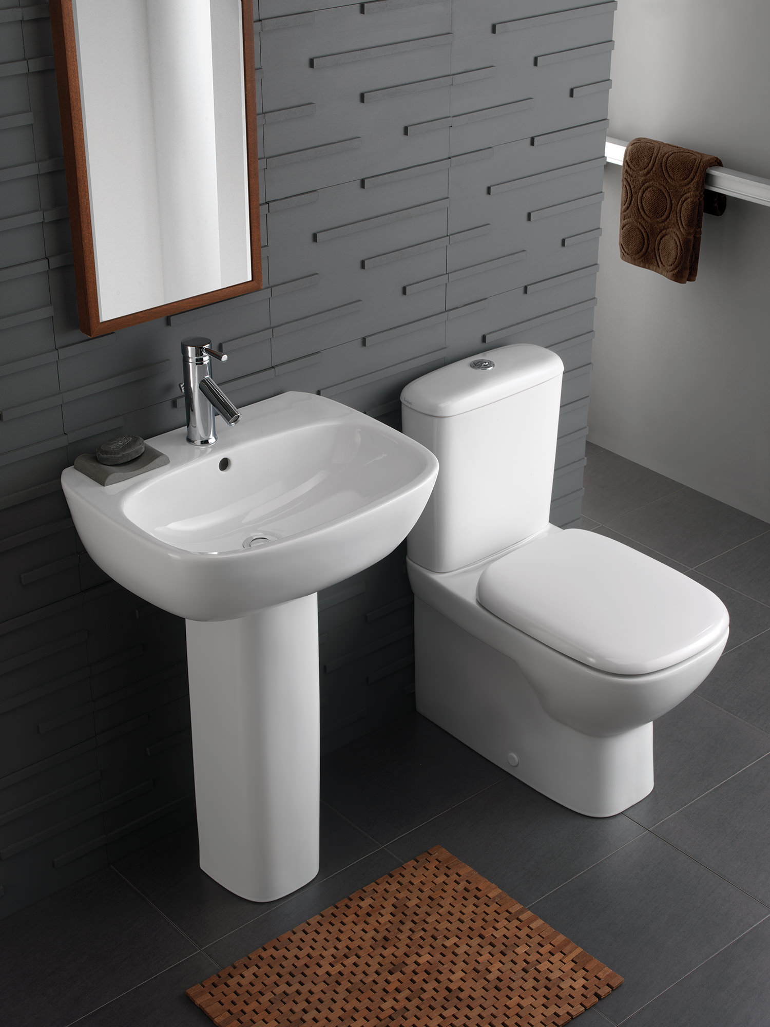 Twyford Moda Rimfree Close Coupled Back To Wall Wc Pan And