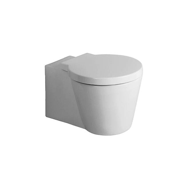 duravit starck 1 wall mounted toilet with seat cover. Black Bedroom Furniture Sets. Home Design Ideas
