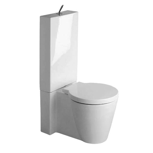 Groovy Duravit Starck 1 Close Coupled Toilet With Cistern-Seat - 0233090064 LZ96