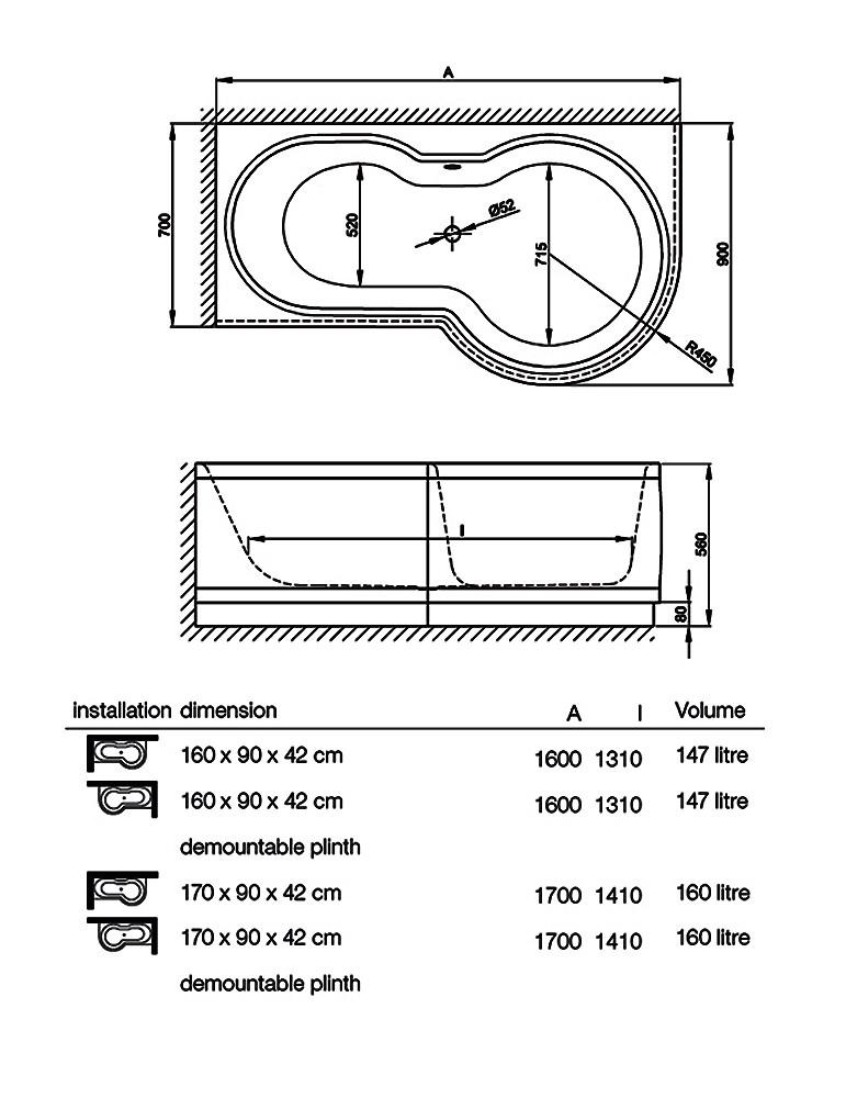 bette cora ronda super steel shower bath 1700 x 900mm kaldewei ambiente vaio set star 945 steel shower bath 1700