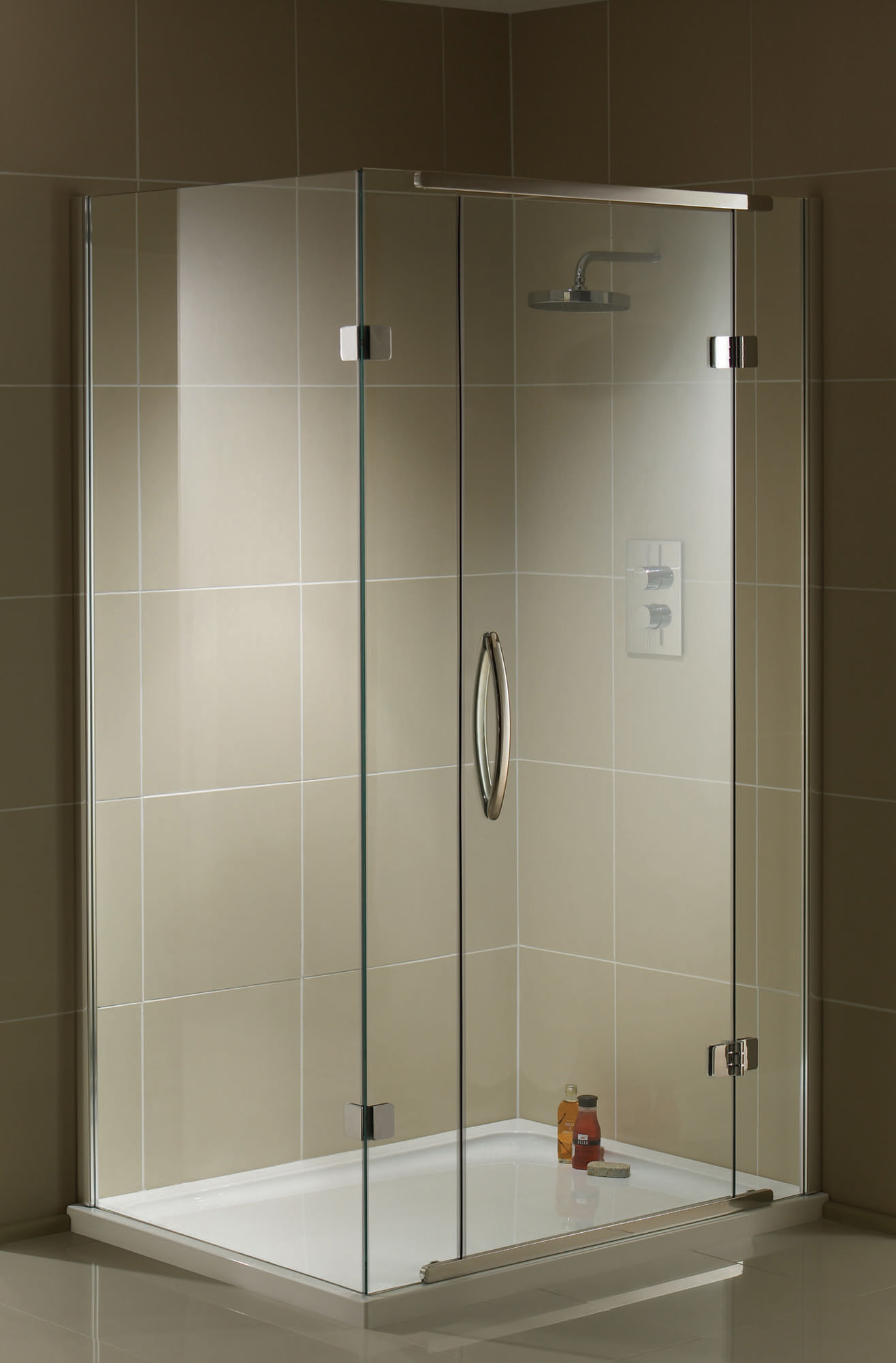 Aquadart inline 2 sided hinged door shower enclosure 1400 for 1400 shower door