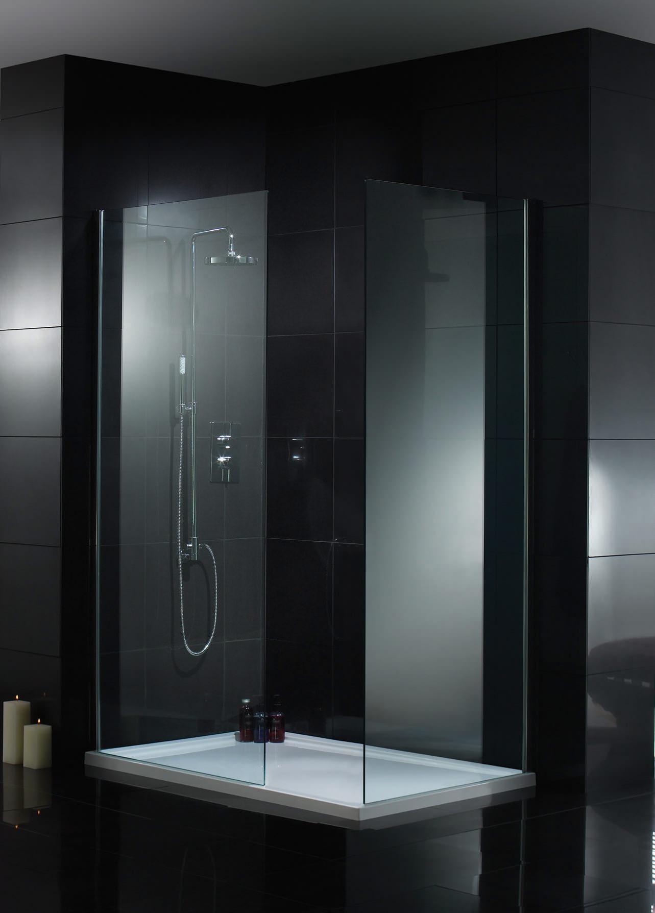 Aquadart wetroom walk in shower glass panel 1200mm aq2012 Shower glass panel