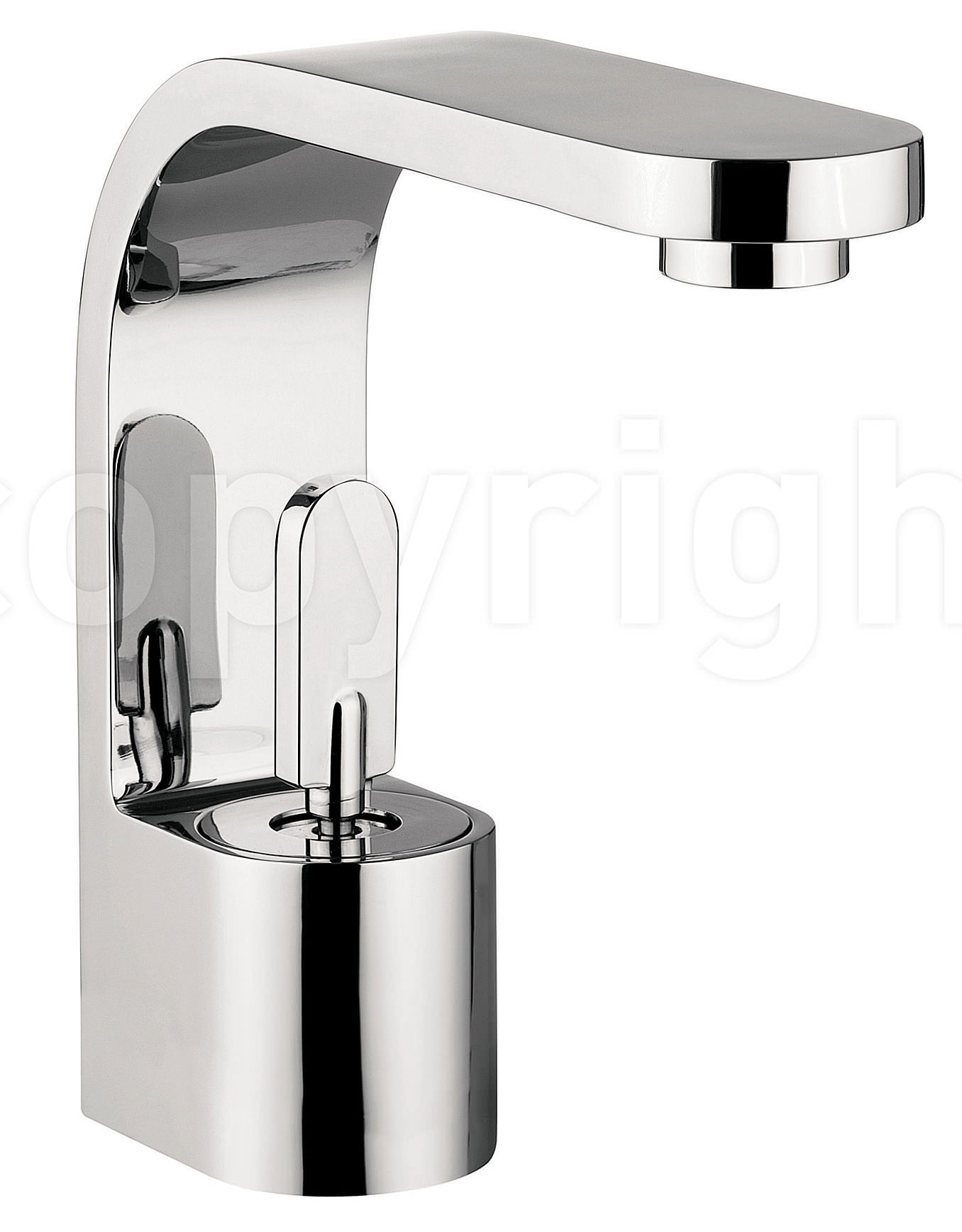 crosswater curve monobloc basin mixer tap chrome cu110dnc. Black Bedroom Furniture Sets. Home Design Ideas