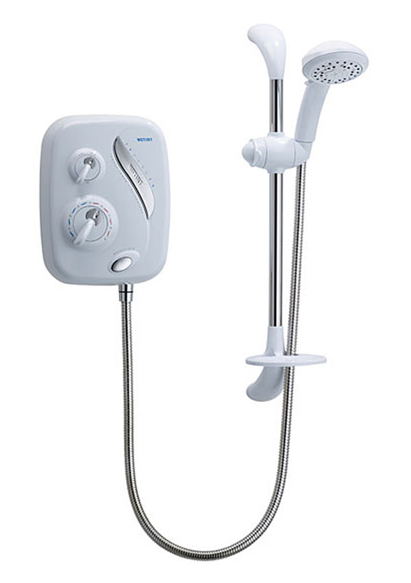 triton as2000xt thermostatic power shower white and chrome. Black Bedroom Furniture Sets. Home Design Ideas