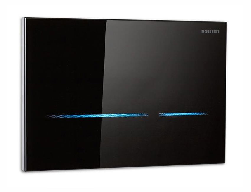 Geberit Sigma80 Touchless Flush Plate Black Glass 116