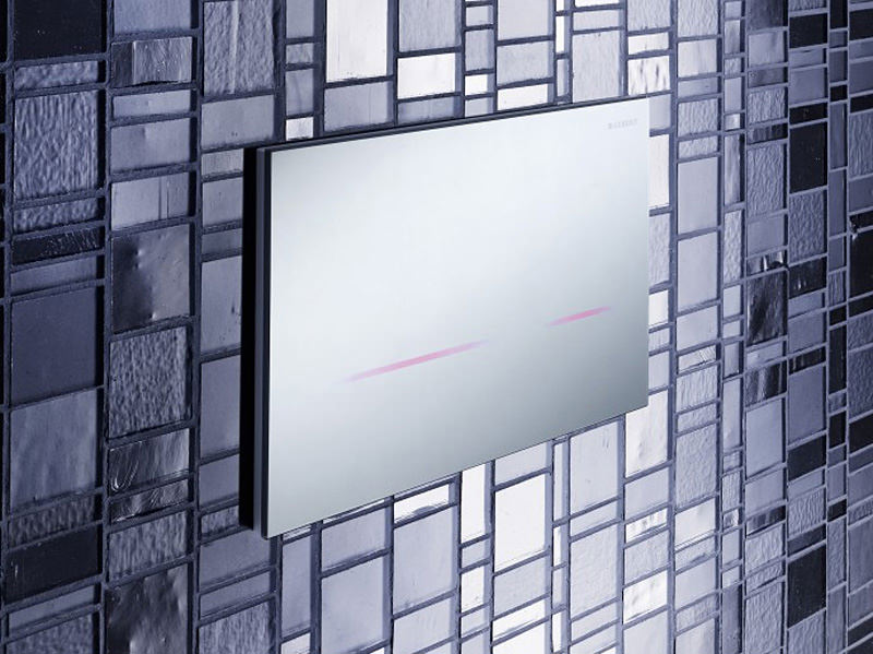 Geberit Sigma80 Touchless Mirrored Glass Flush Plate 116