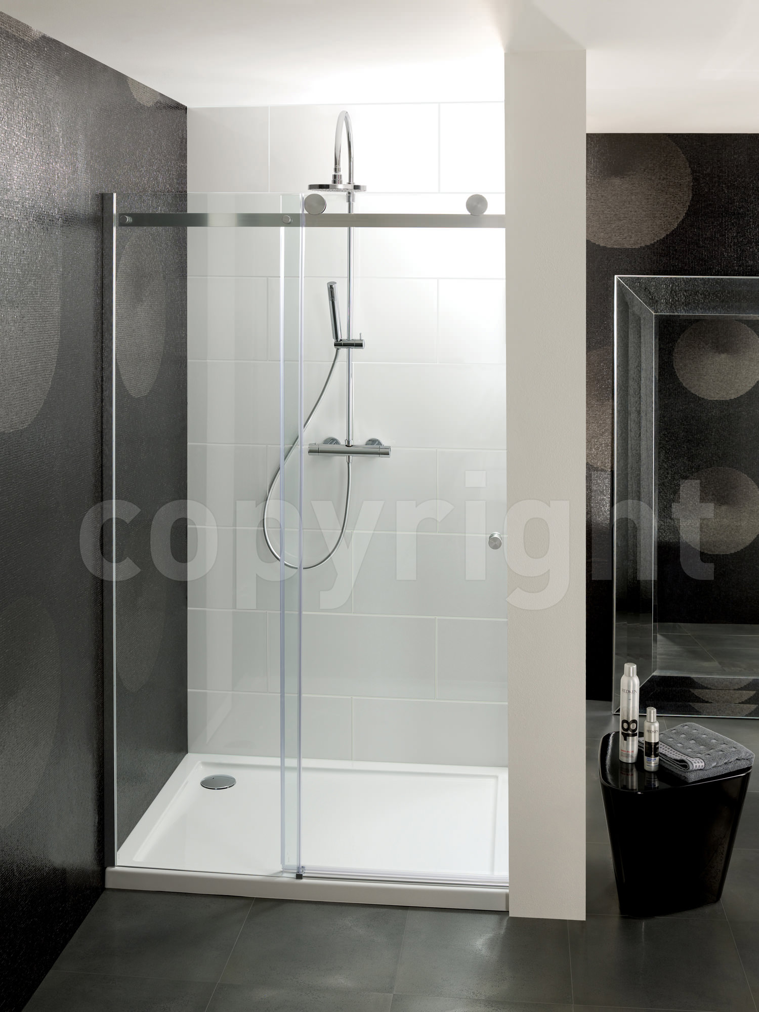 Simpsons Central Single Sliding Shower Door 1100mm