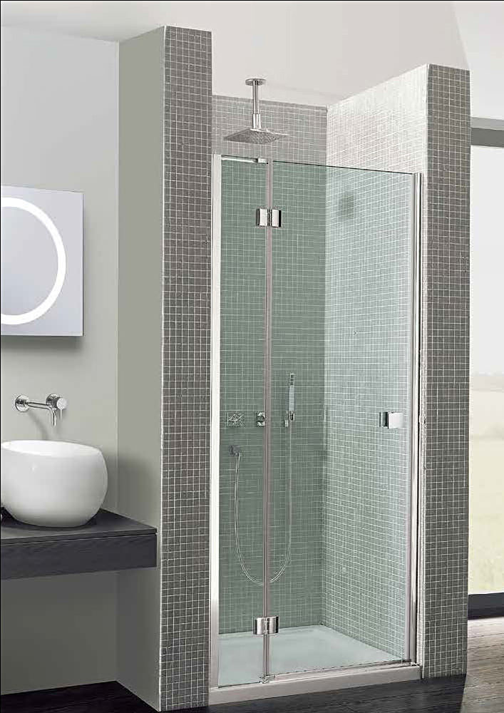 Simpsons Design Hinged Shower Door 1200mm With Inline Panel