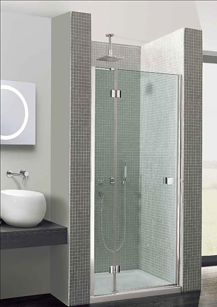 Simpsons Design Hinged Shower Door 1200mm With Inline Panel