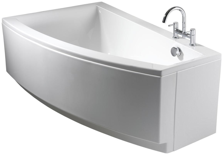 Twyford Indulgence Offset Corner Bath 1600 X 500 1000mm