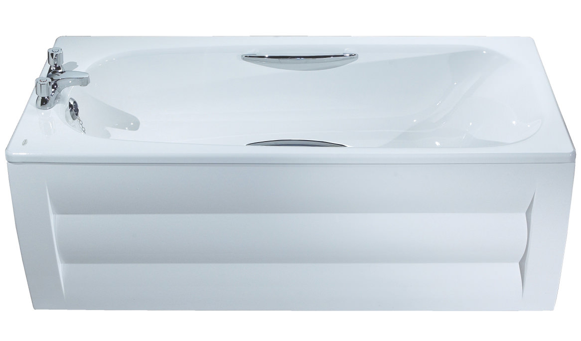 Twyford Shallow 1500 X 700mm Slip Resistant Steel Bath