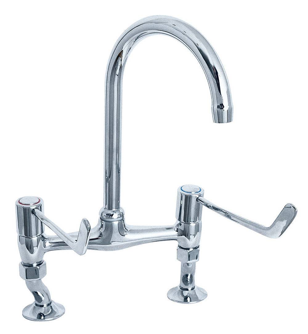 Deva Lever Action Bridge Sink Mixer Tap