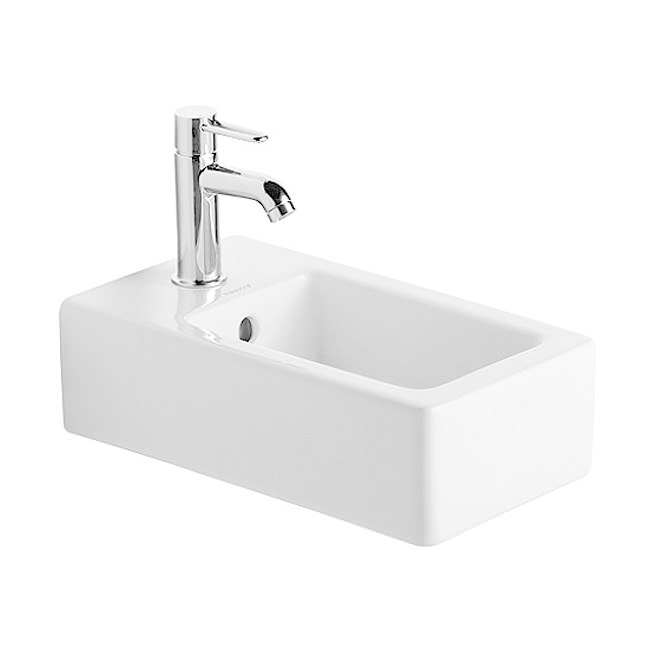 duravit vero white 250 x 450mm handrinse washbasin. Black Bedroom Furniture Sets. Home Design Ideas