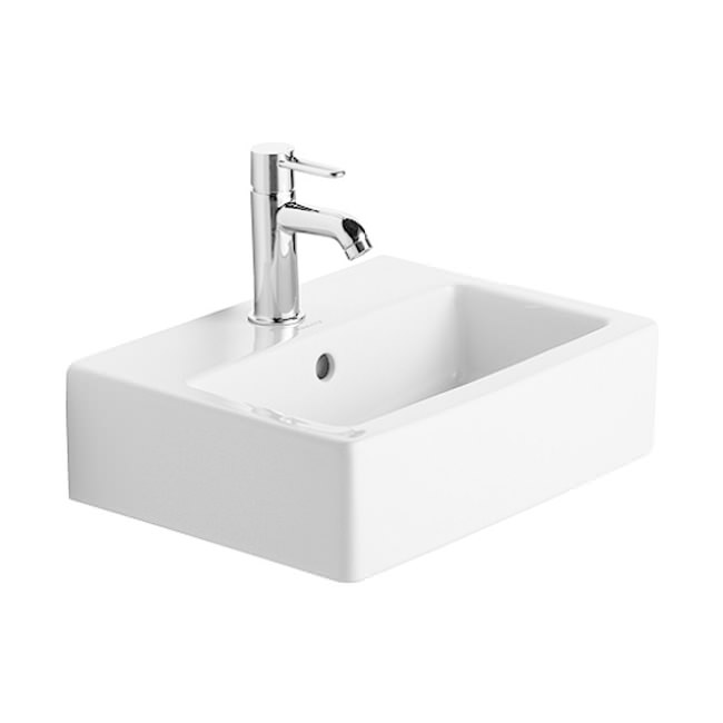 duravit vero white 450 x 350mm 1 tap hole handrinse basin