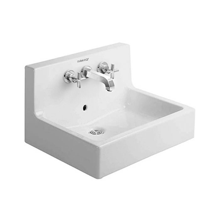 duravit vero white 600 x 470mm 3 tap hole washbasin 0453600000. Black Bedroom Furniture Sets. Home Design Ideas