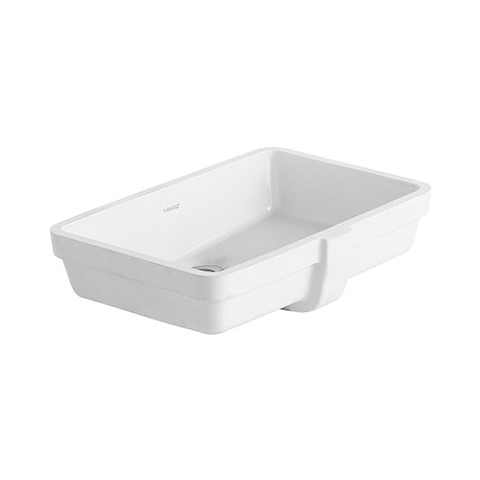 duravit vero white 485 x 315mm vanity basin 0330480000. Black Bedroom Furniture Sets. Home Design Ideas