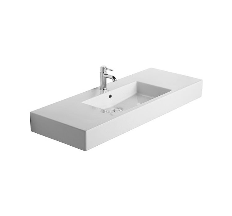 duravit vero 1250 x 490mm 1 tap hole furniture basin. Black Bedroom Furniture Sets. Home Design Ideas