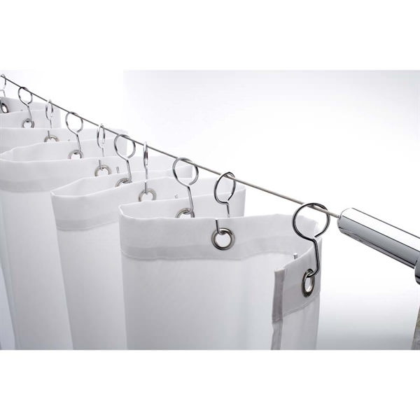 Croydex Wireline Non-Hinged Shower Curtain Rail - AD107041