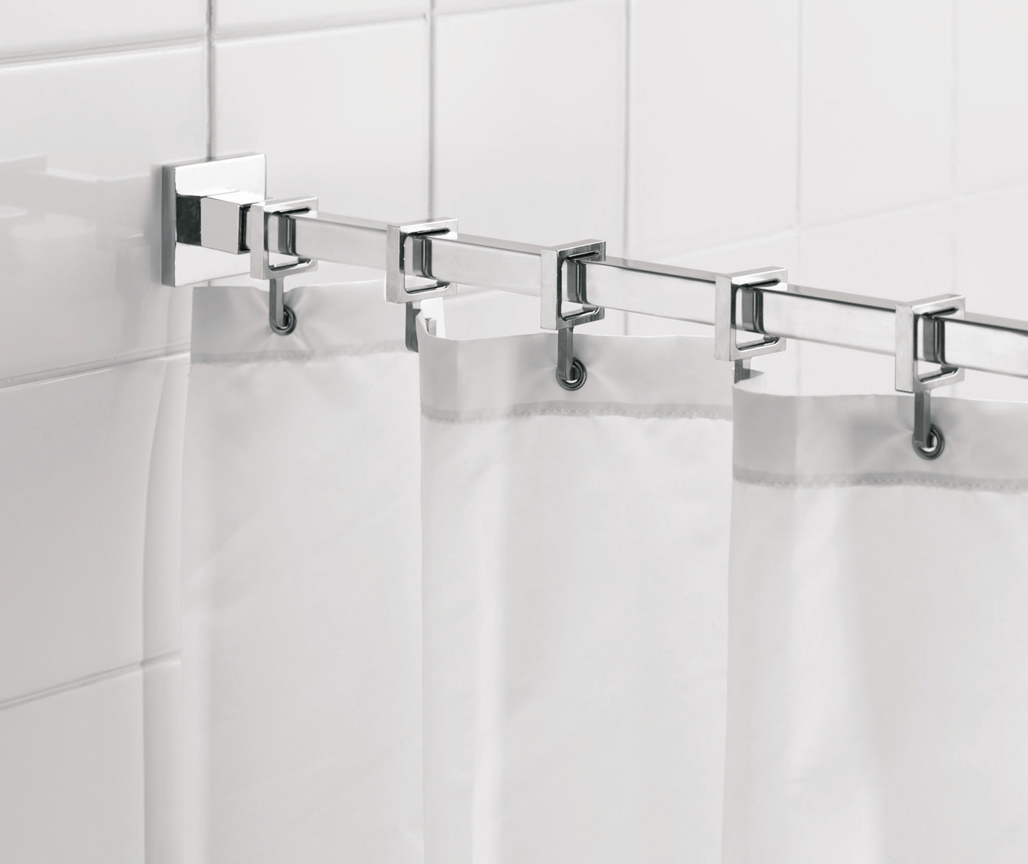 Croydex Luxury Square Shower Curtain Rod - AD116441
