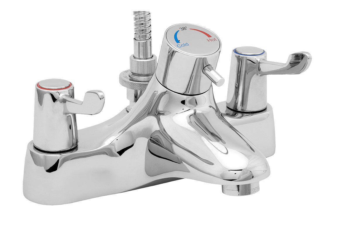 Deva Lever Thermostatic Bath Shower Mixer Tap