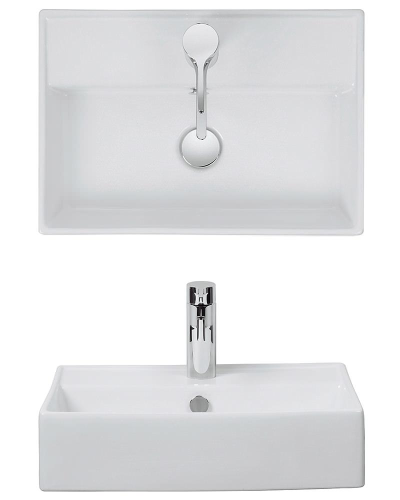 Bauhaus turin 500mm wall mount basin wm0017bscw