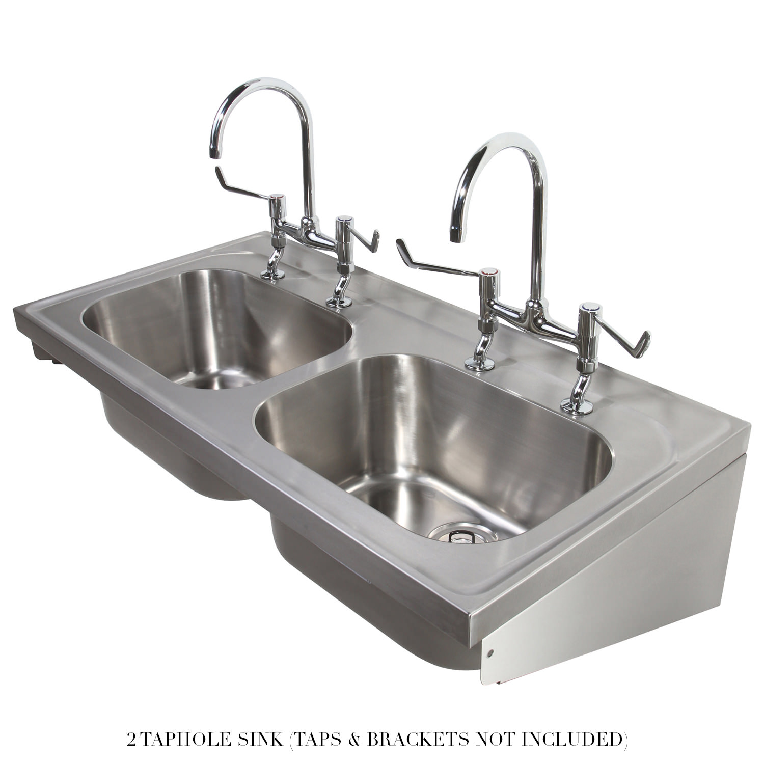 Twyford Stainless Steel 1200 X 600mm Double Bowl Hospital