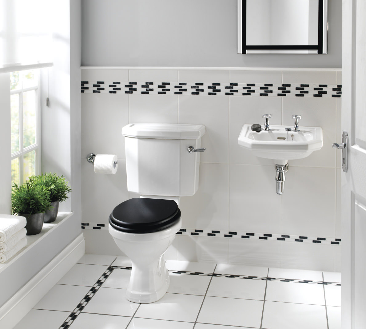 Twyford Clarice Traditional Cloakroom Suite Cl1148wh