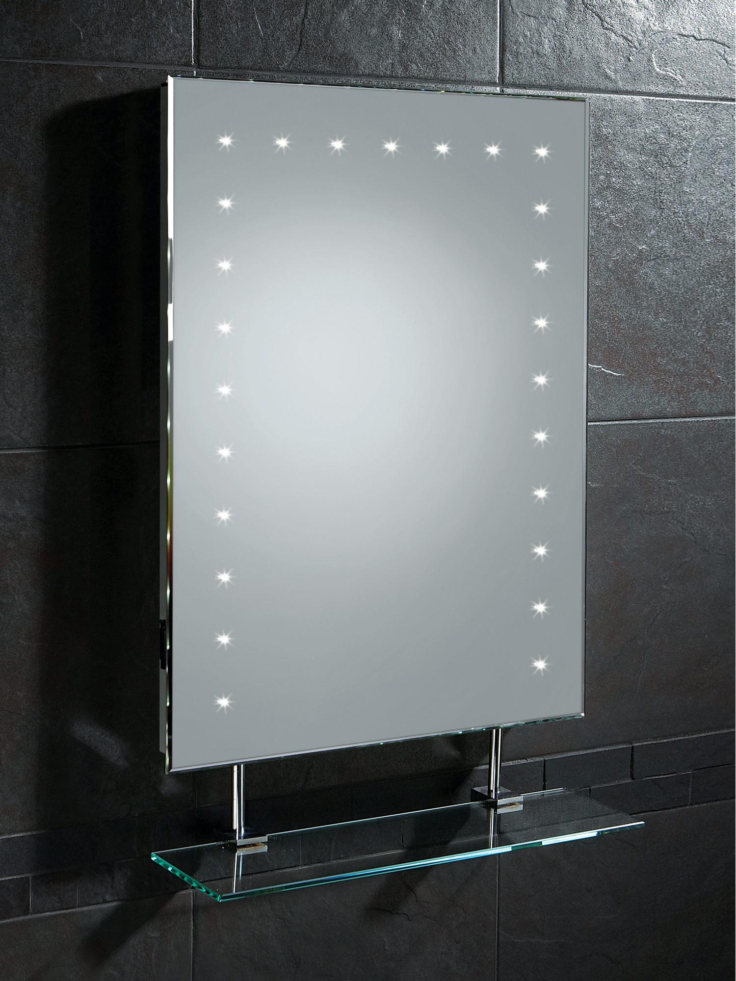 Bathroom led mirrors uk - Hib Keo Led Bathroom Mirror With Glass Shelf And Shaver Socket