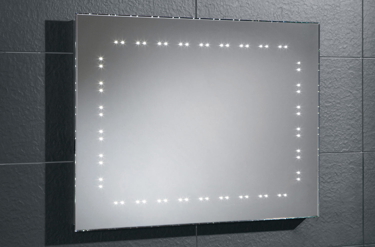 HIB Hannah Bevelled Edge LED Bathroom Mirror 800 X 600mm